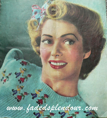 Free Pattern 1940′s Knitting - Tyrolean Print Ladies Sweater