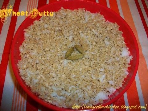 how to make puttu with wheat flour