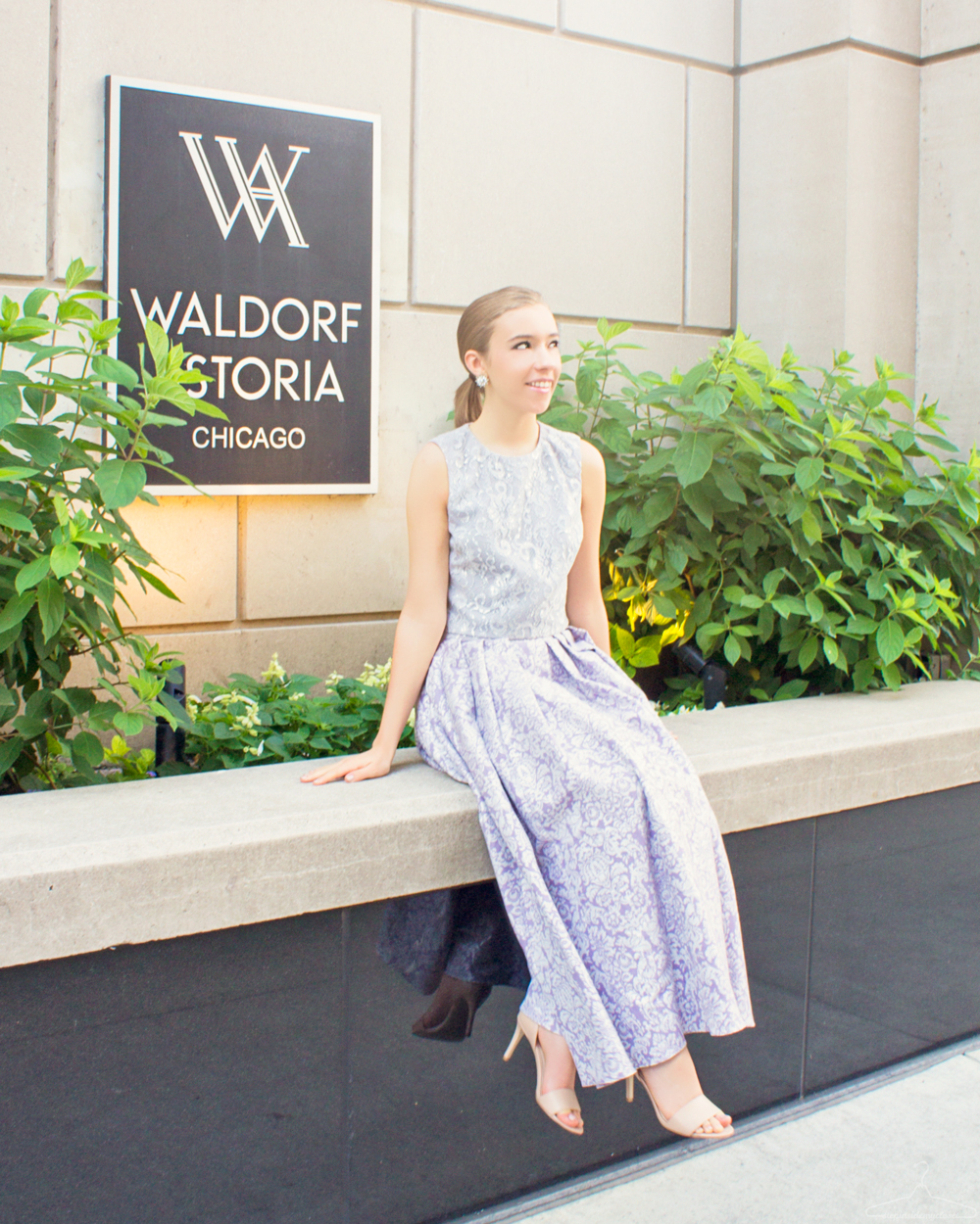 Step Inside My Closet: Waldorf Wardrobe - Waldorf Astoria, Chicago, outfit post, glamorous outfit post, badgley mischika, nine west, the shopping bag, yves saint laurent, outfit photography, hotels in chicago