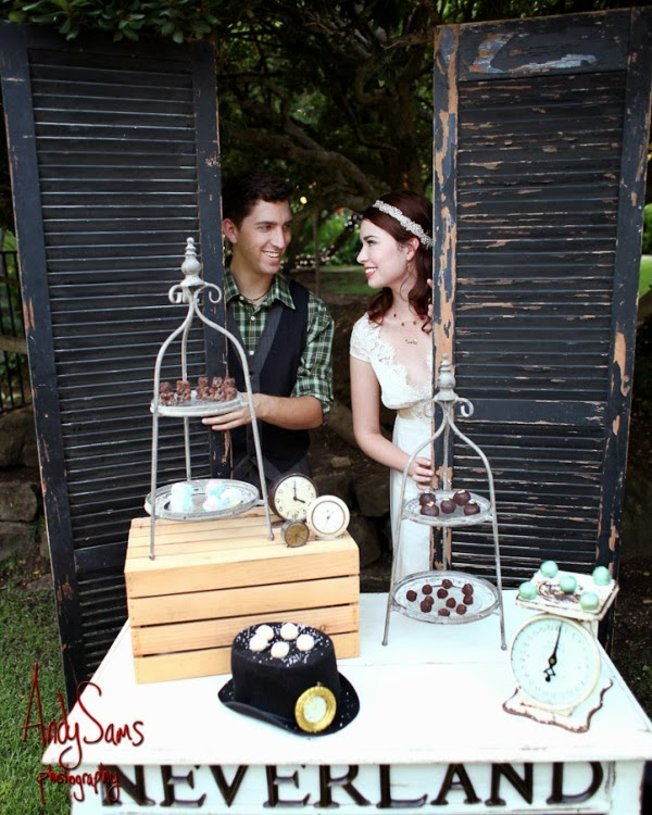 Whimsical Peter Pan And Wendy Darling Styled Wedding Photo Shoot