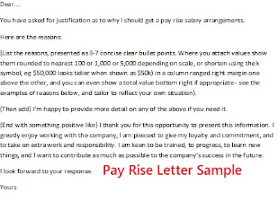 Pay Rise Letter Sample picture, Salary increase letter picture