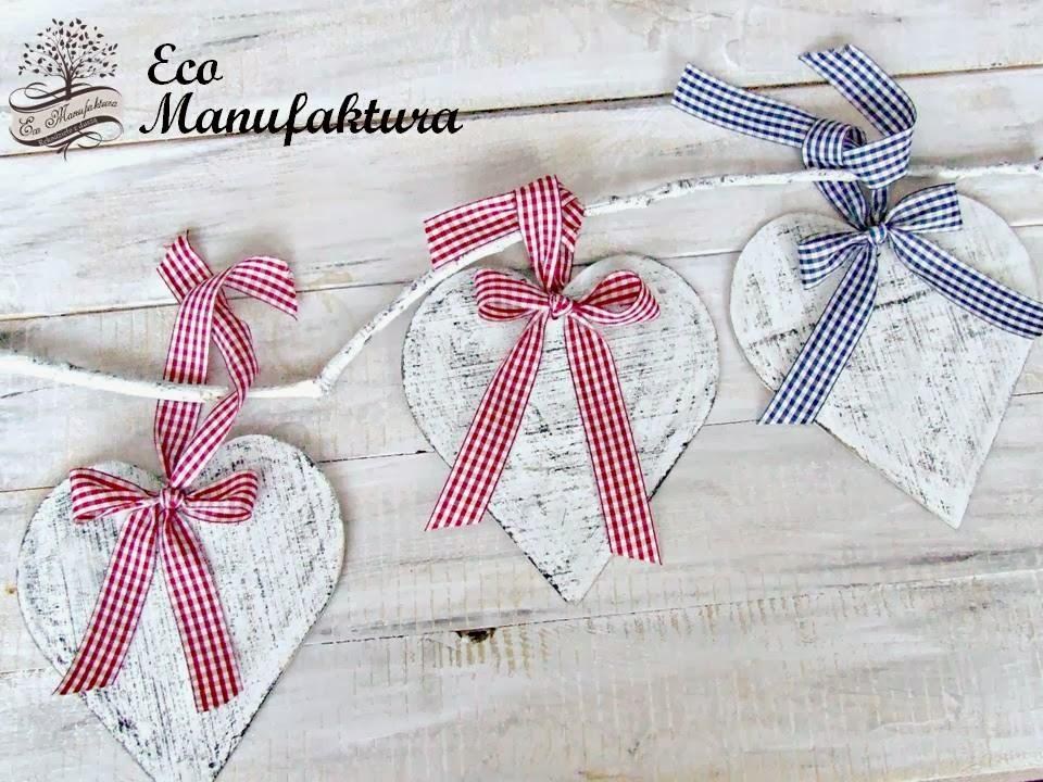 dekoracja świąteczna hand made w stylu shabby chic by Eco Manufaktura