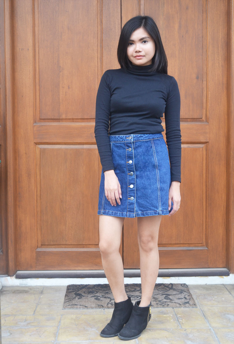 That 70s Style: A-line Denim Skirts - I Am Alexa│London Fashion ...