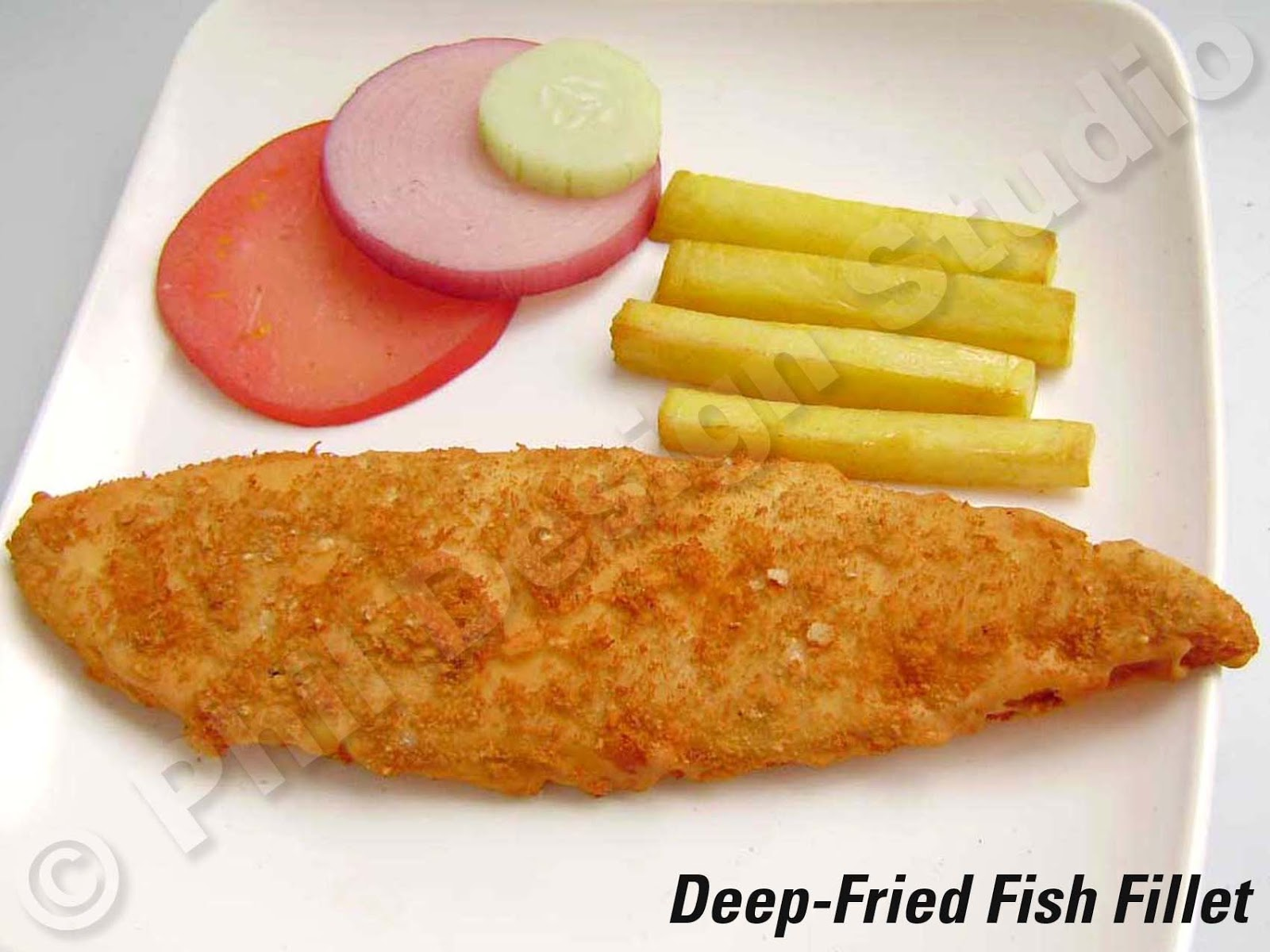 Plastic food models actual size plastic model displays for How to cook fish fillet