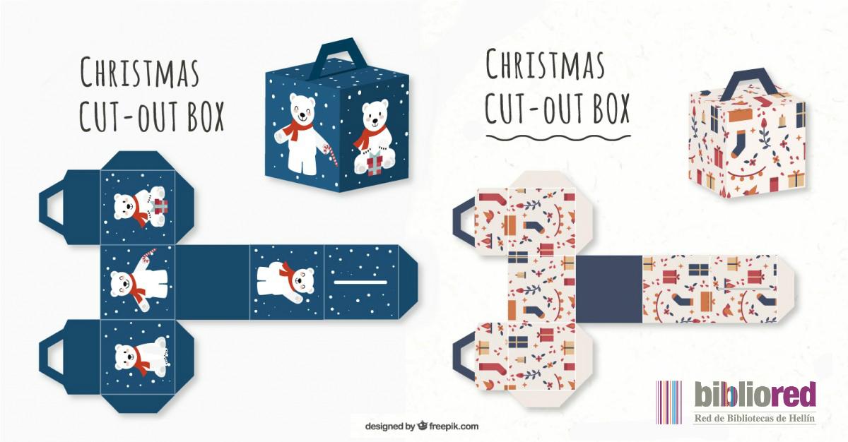 plantillas de cajas de navidad para recortar