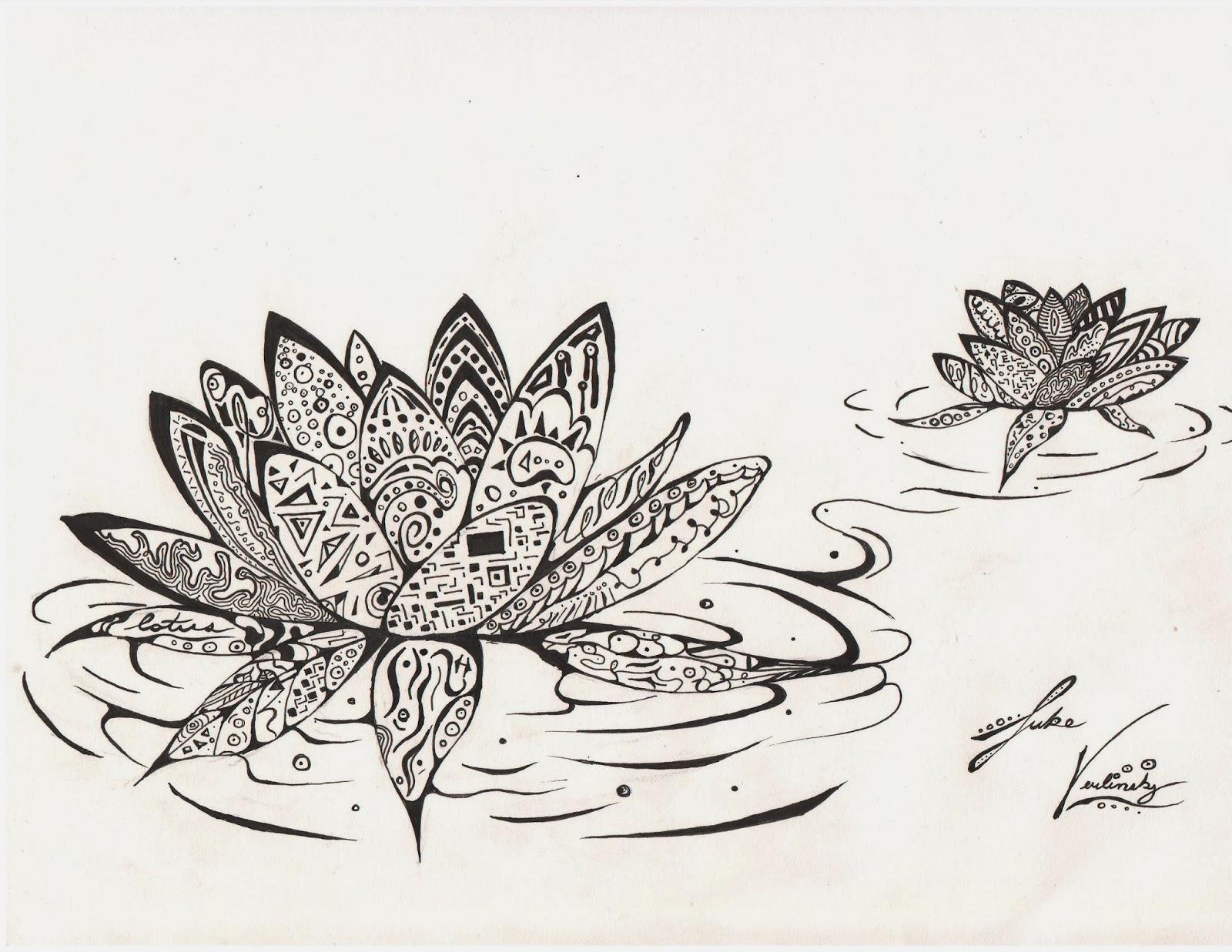 Zentangle Lotus Flower