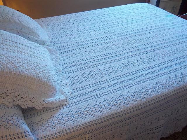 Mi sala de costura colcha vintage - Como hacer una colcha de ganchillo ...
