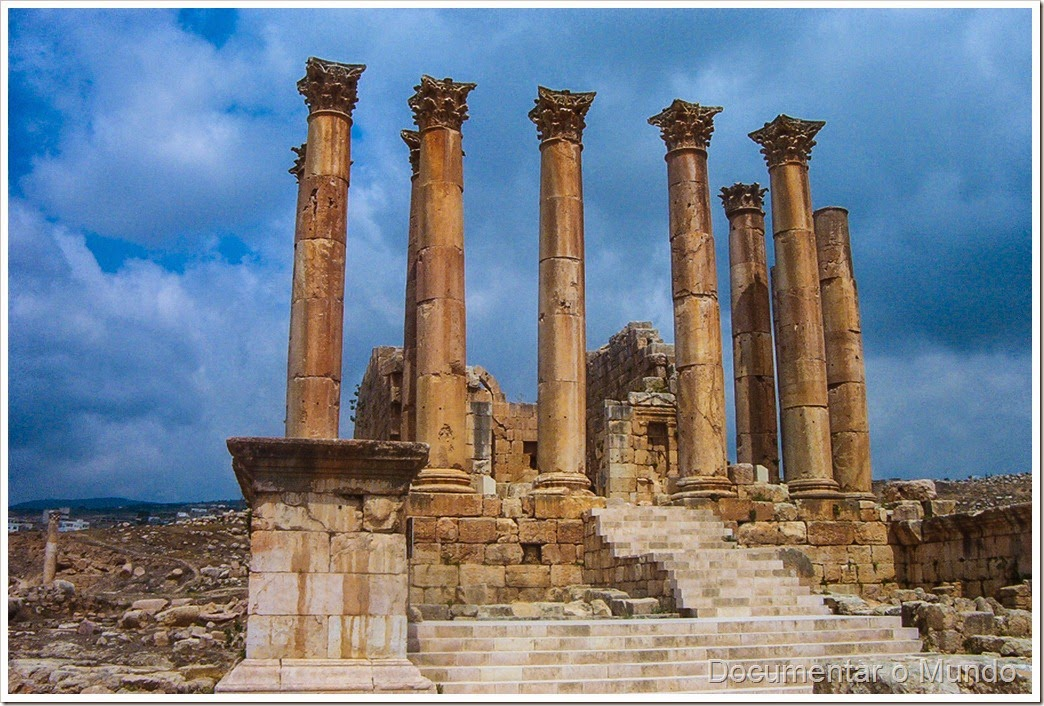 Templo de Artemis; Jerash; Jordânia; Temple of Artemis; Jordan