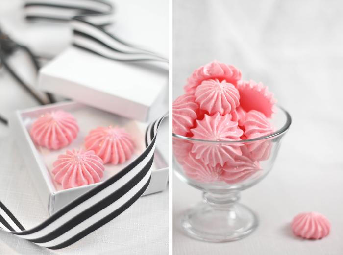 Candy Stripe Meringue Cookies - Recipe