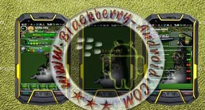 FREE BBM MOD GREEN ARMY THEMES Apk TERBARU