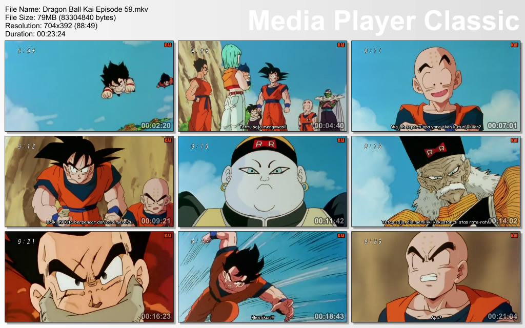 "Download Film / Anime Dragon Ball Kai Episode 59 ""Pasangan Tanpa Jejak"