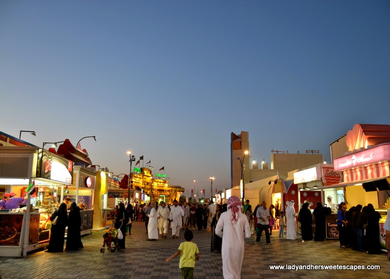 food stalls at the Global Village