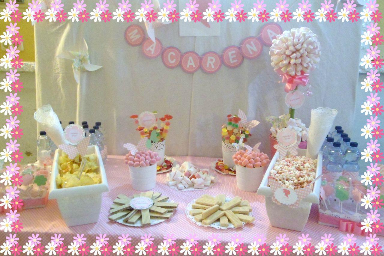 Chocolate y burbujas mesa dulce para ni a - Preparar mesa dulce para comunion ...