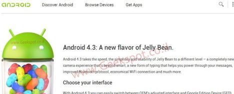 Android 4.3, Android 4.3 Jelly Bean
