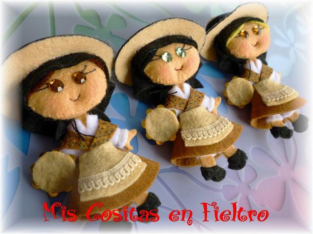 broche de fieltro, felt pin, broche, fieltro, traje regional, gallega, Villagarcía