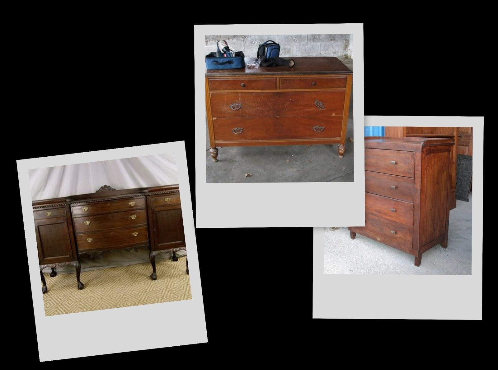 Reciclado de muebles comodas restauraci n de muebles nave jardin - Muebles pintados en plata ...