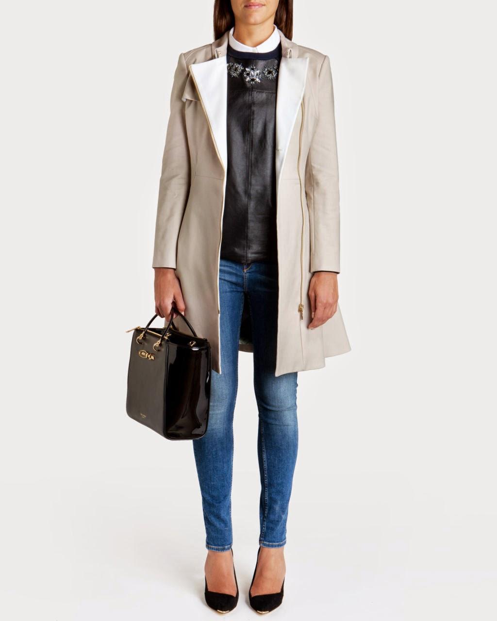 ted baker trenchcoat 2015, asymmetric zip coat,