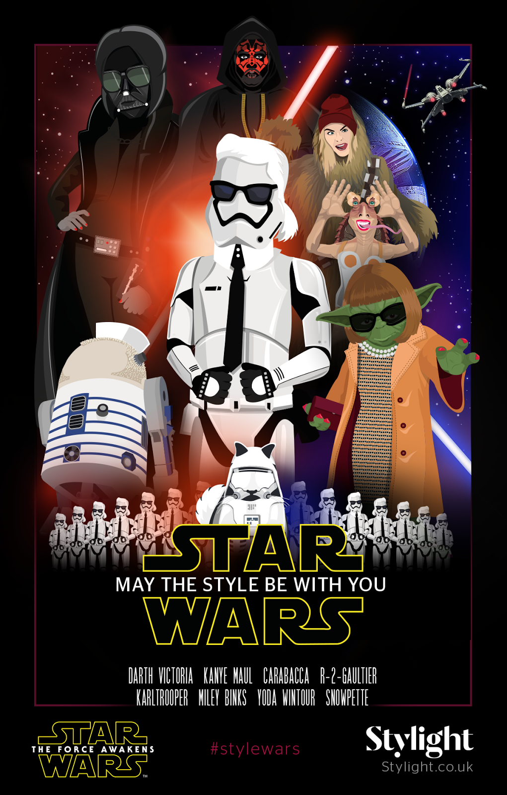 Karltrooper, Snowpette, Yoda-Wintour, Kanye-Maul, R-2-Gaultier, Darth-Victoria, Carabacca, Miley-Binks, Star-Wars-by-Stylight, may-the-style-be-with-you, star-wars-may-the-style-be-with-you, styligh-star-wars, the-minionistas, star-wars-le-reveil-de-la-force, Karl-Largerfeld-star-wars, choupette-star-wars, anna-wintour-star-wars, jean-paul-gaultier-star-wars, kanye-west-star-wars, cara-delevingne-star-wars, miley-cyrus-star-wars, victoria-beckham-star-wars, dudessinauxpodiums, du-dessin-aux-podiums, fashion-icon, fashion-star-wars, The-Force-Awakens, look-star-wars, design-star-wars