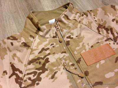 Spanish Army Desert Digital Camo Softshell Jacket h
