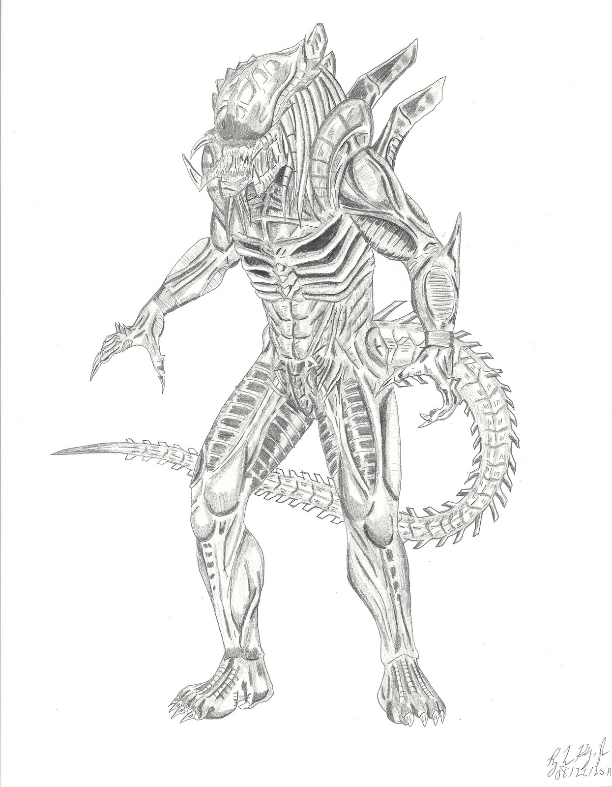 The gallery for --> Queen Xenomorph Drawing