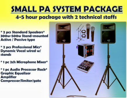Sound System Rental Manila 8thbeat Basic PA System Debut