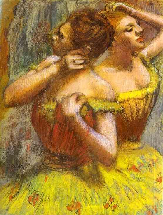 pastel,two dancers,ballerinas