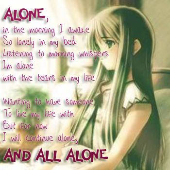 Anime Girl Sad Alone