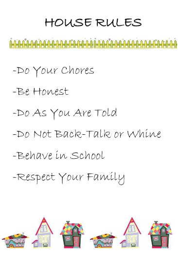 house rules chart template - crayons and checkbooks printable house rules