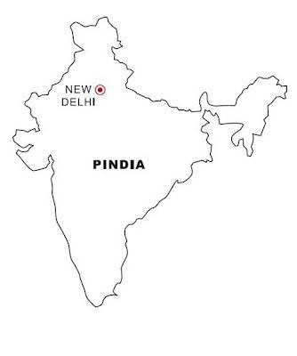 Laminas para Colorear   Coloring Pages: Mapa y Bandera de India para ...