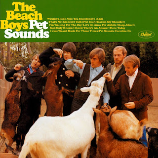 Rock Band Beach Boys CD Back Cover image of goats being fed