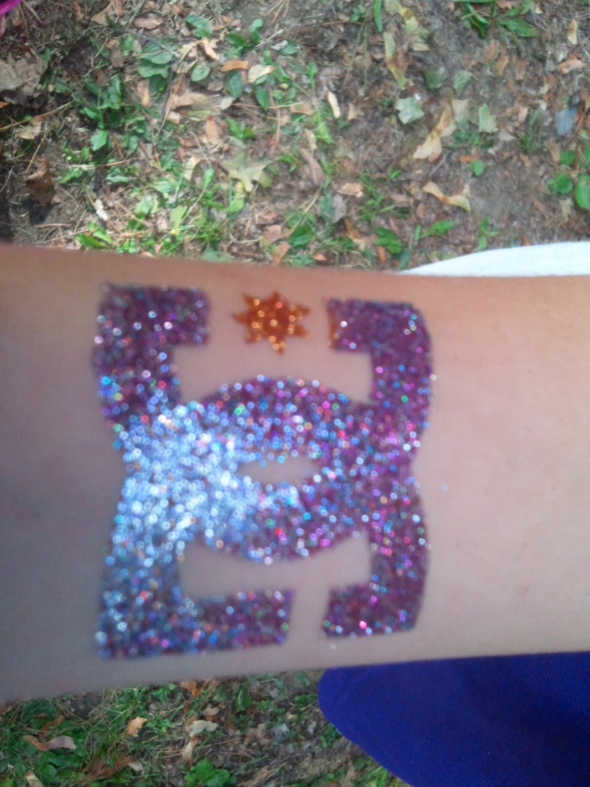 DC Shoes Glitter Tattoo