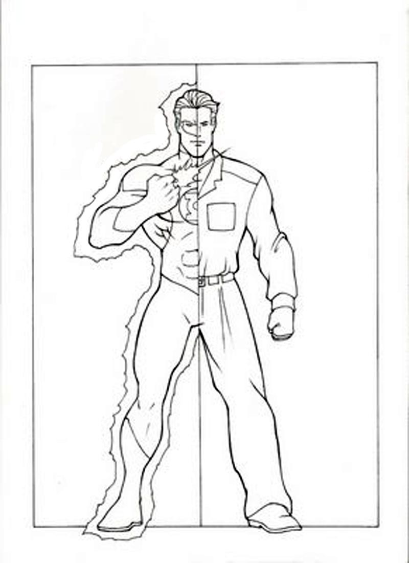 Free coloring pages justice league - The Flash And Green Lantern Coloring Pages