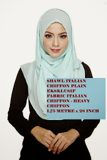 aziracollections: SHAWL ITALIAN CHIFFON PLAIN EKSKLUSIF