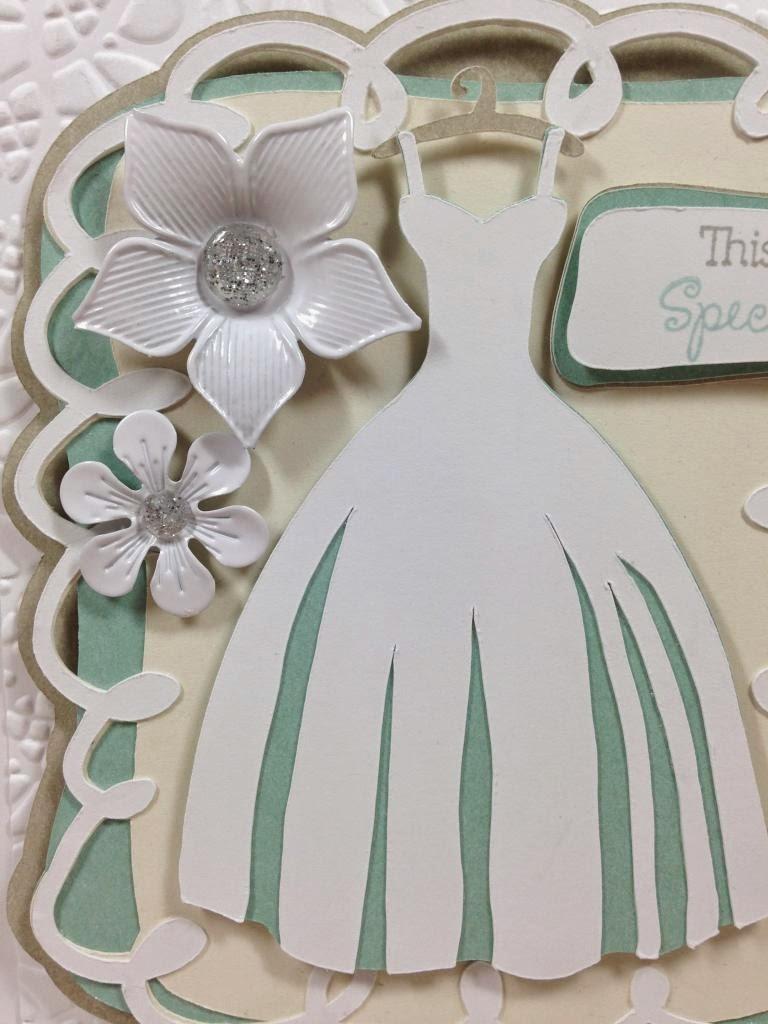 Cricut Wedding card closeup