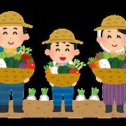 農家の家族のイラスト