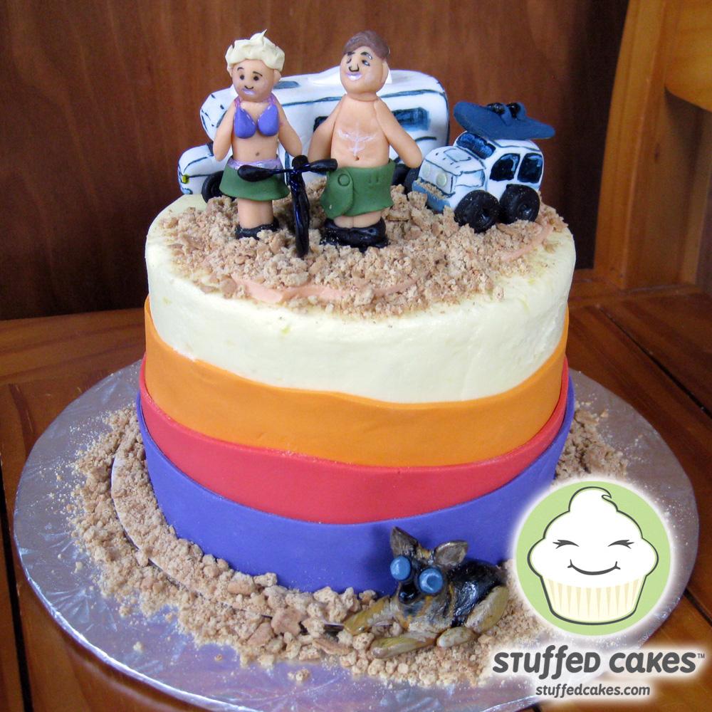 Stuffed Cakes Burning Man Cake