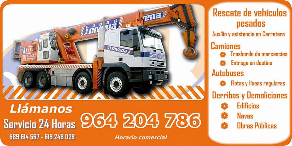 Grúas Valencia | Camiones Grúas para auxílio, rescate y Asistencia en Carretera