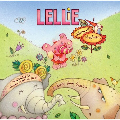 Purchase Lellie the Different Elephant on amazon.com. A children's book written by Lois Ann Garza and illustrated by Juana Martinez-Neal.