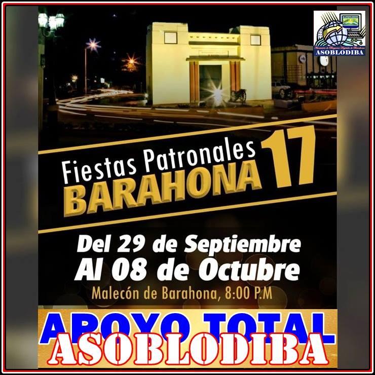 ASOBLODIBA APOYANDO LAS FIESTAS PATRONALES BARAHONA 2017