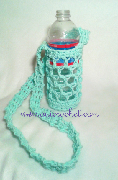 Oui Crochet Simple Large Or Small Water Bottle Carrier Free