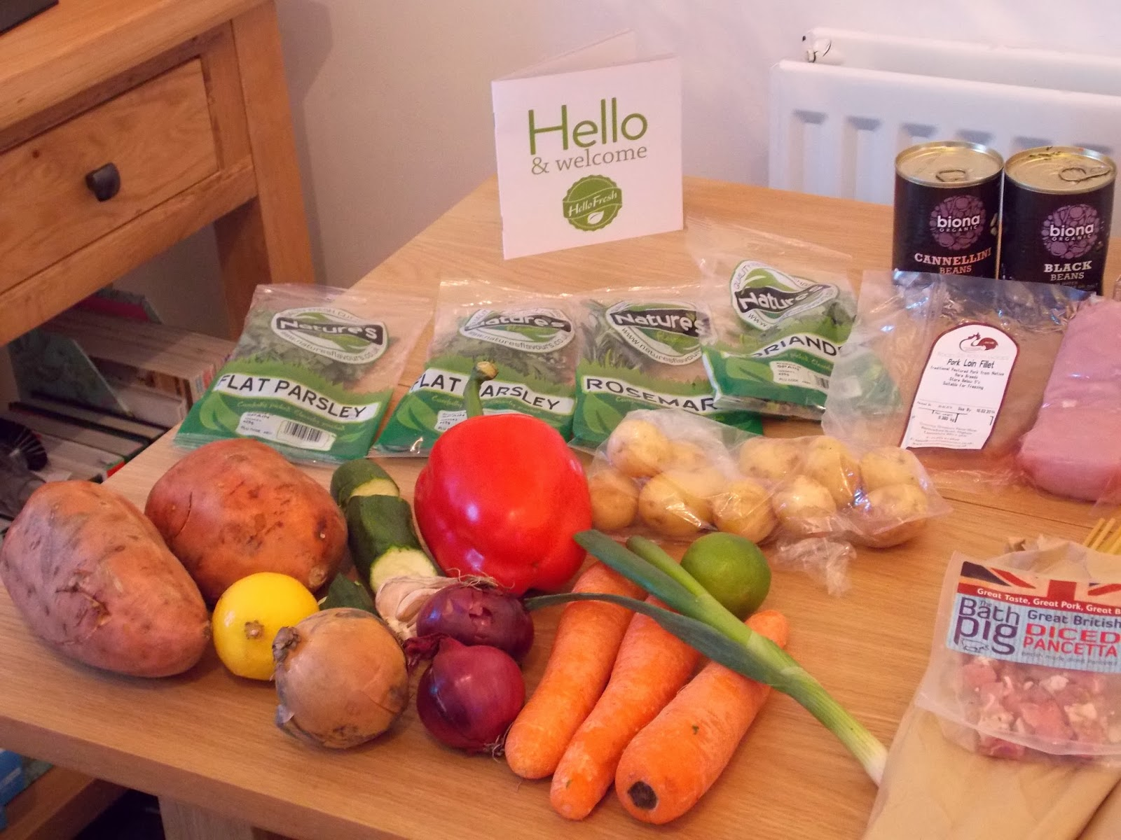 Hello Fresh Box: The Food