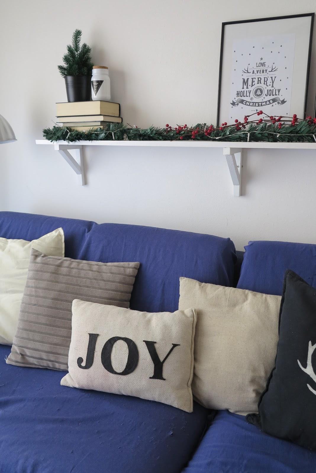Rocco en mi sofa decoraci n navide a natural y simple - Decoracion navidena natural ...