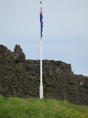 Thingvellir flagpole, Iceland