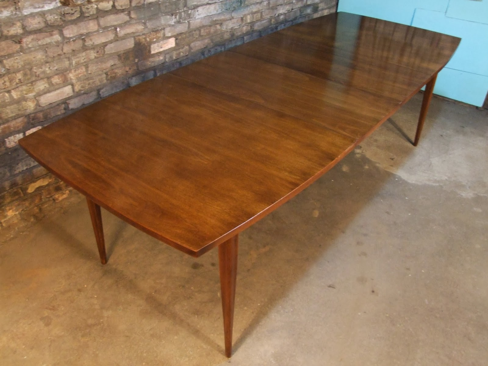 mid century chicago broyhill emphasis dining table w