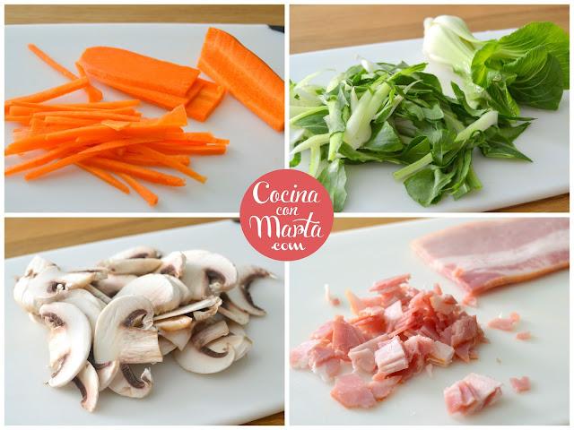 Quiche de verduras, quinche o pastel frío de verduras. Receta casera, fácil y rápida. Cocina con Marta