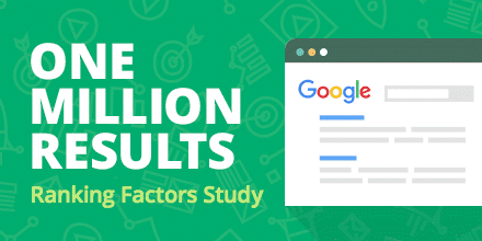 one million results ranking factors study