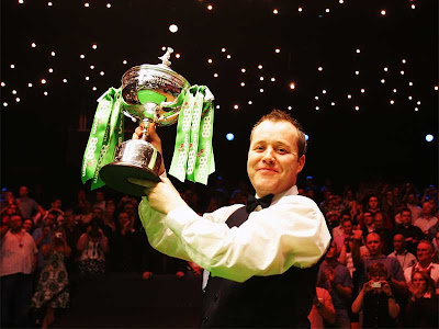 Eventually, at 12.52am, Higgins lifts the trophy in the latest Crucible final finish.