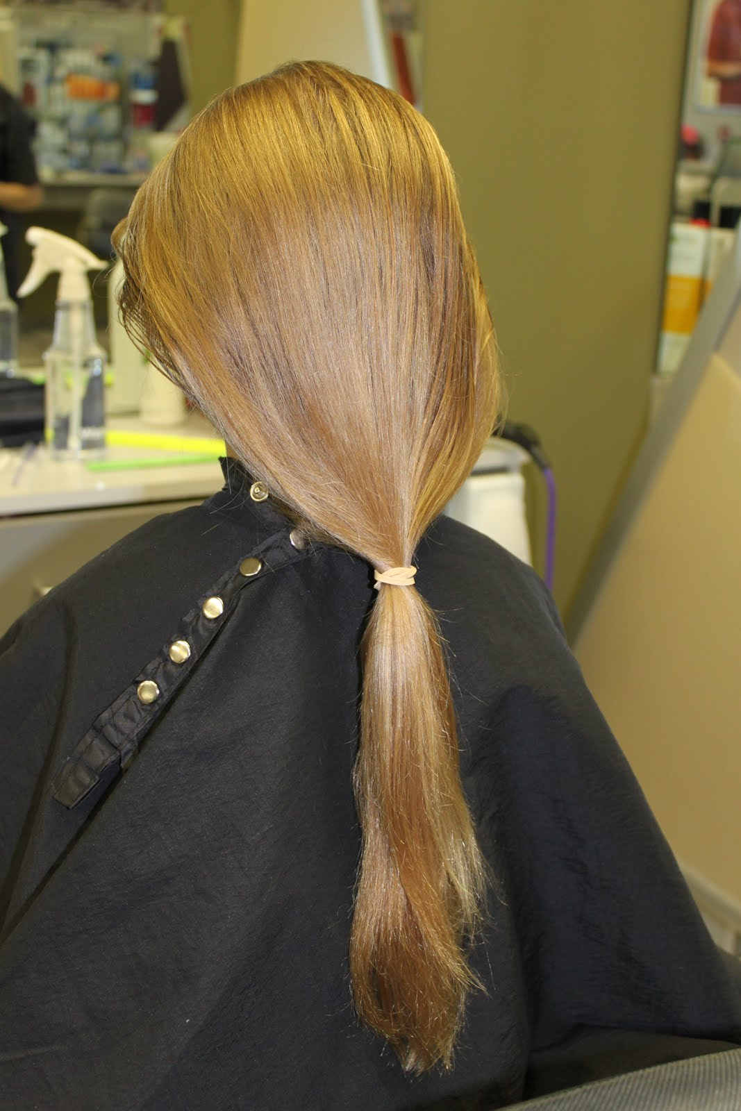 ... out another little and wanted to donate her hair to Locks of Love