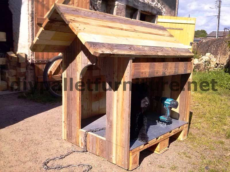 La casita para perro con palets de manou - Casa de perro con palets ...