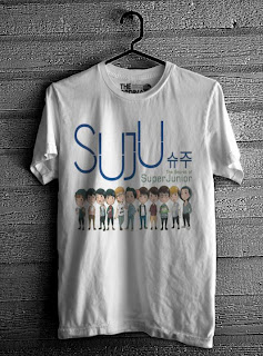 kaos super junior online murah putih